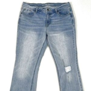 Old Navy Womens Cutoff Home Cropped Jeans Sz 10
